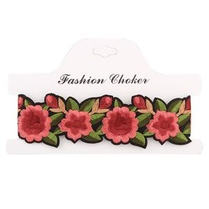 Jewelry - Bohemian Printed Flower Embroidery Choker Necklace